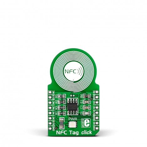 nfc tag click carries an m24sr64 nfc rfid tag ic with a dual interface and 8kb of high. Black Bedroom Furniture Sets. Home Design Ideas