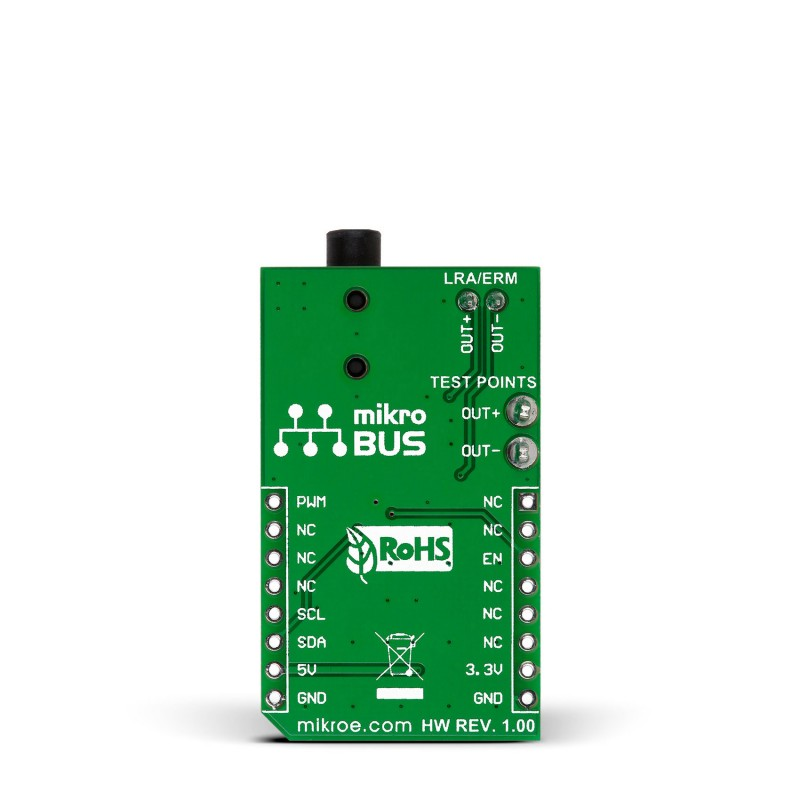 Haptic Click Board With Drv2605 Haptic Driver For Erm And Lra Vibration Motors