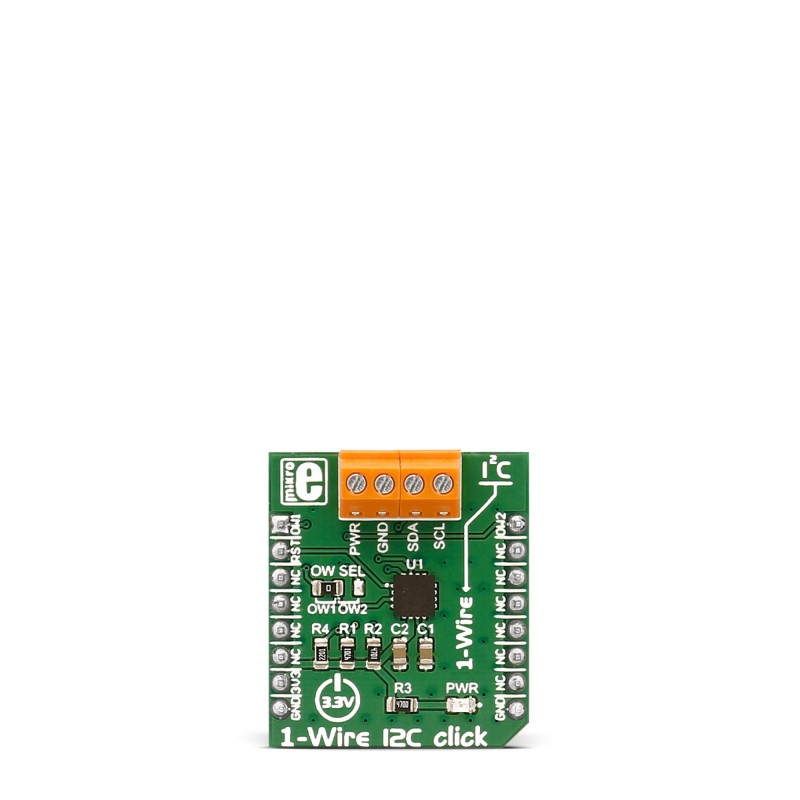 MikroElektronika Click Boards Interface I2C 1-Wire click front side ...