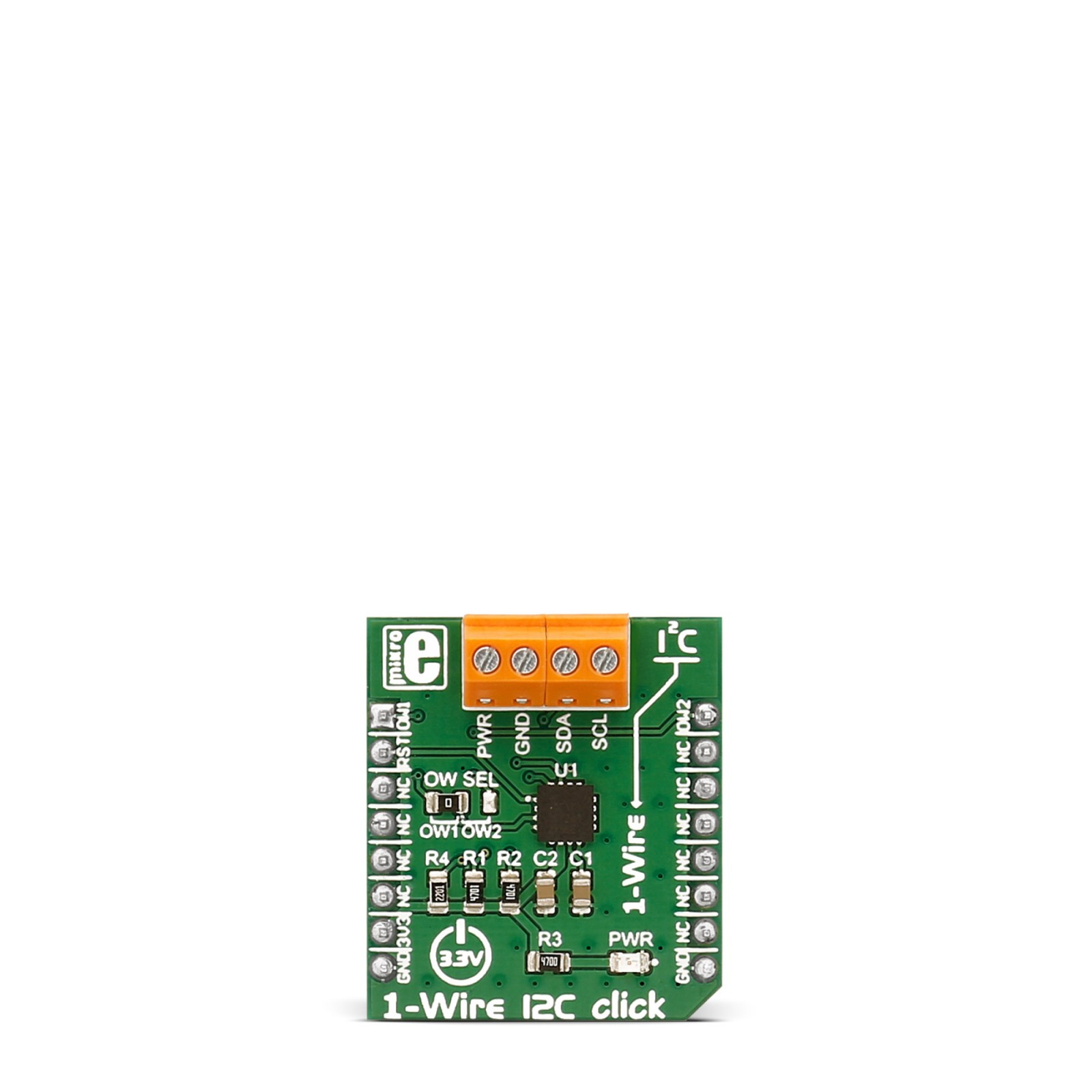 1-Wire I2C click converts I2C communication to 1-wire