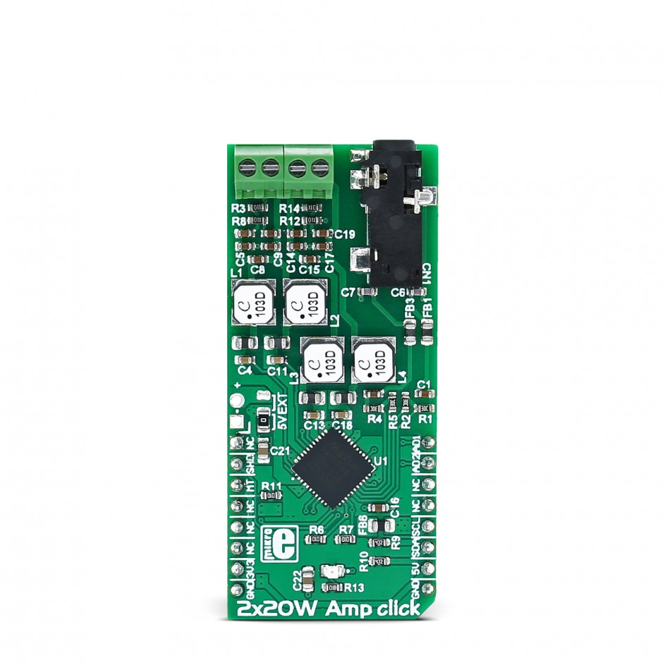 2x20w Amp Click Carries The Max9744 Stereo Class D Audio Power Block Diagram Of Amplifier With Digital Volume Control
