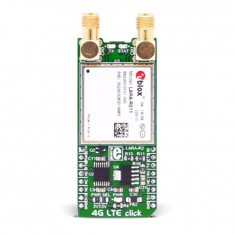 MikroE Click Boards Wireless Connectivity 4G LTE-E click (Europe) front