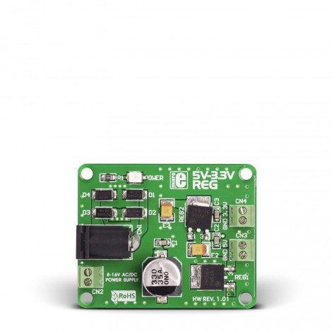 Mikroe Power Management 5V-3.3VReg Board