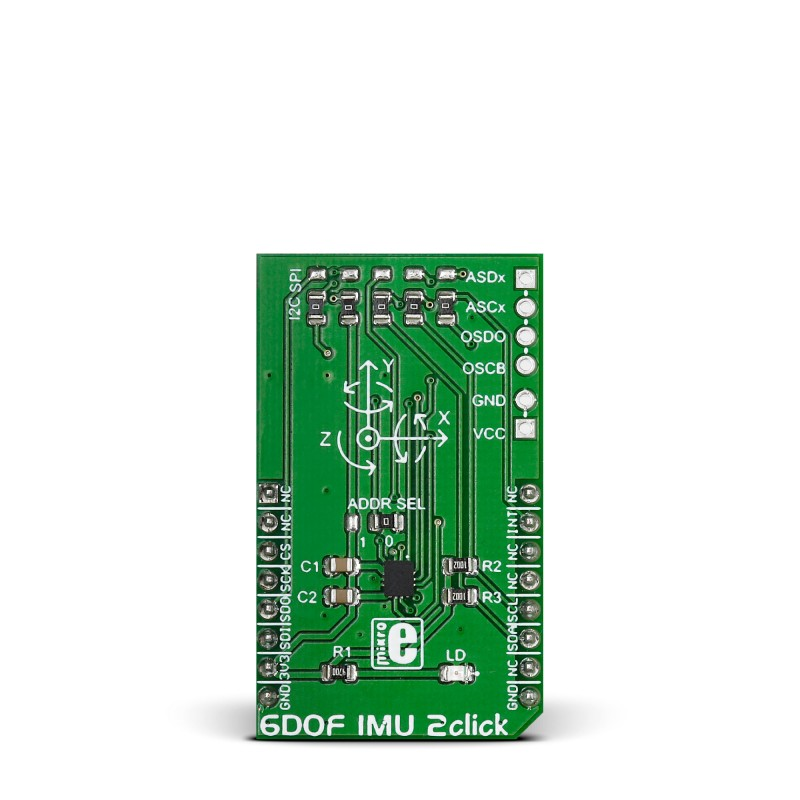 6DOF IMU 2 click – BMI160 IMU with triaxial accelerometer and gyroscope