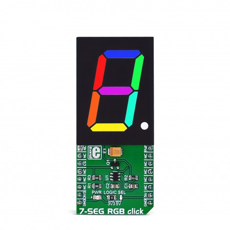 Mikroe Click Boards Display 7-SEG RGB click front
