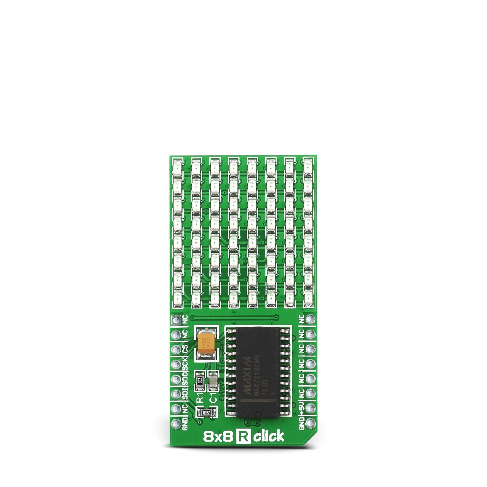 8x8 R Click - Serial 8x8 LED Matrix Display (RED)
