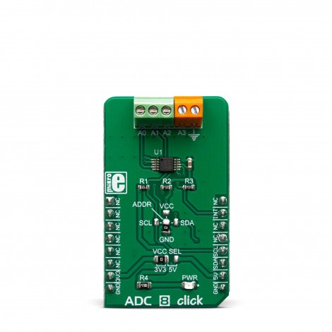 Mikroe Mixed-Signal ADC 8 Click front