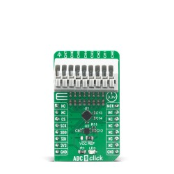 Shop Click Boards Mixed Signal ADC ADC 9 Click Front