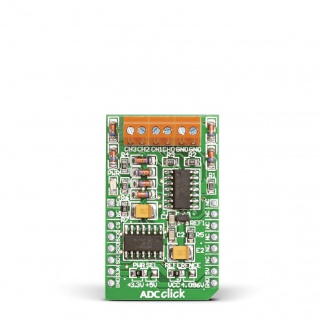 Mikroe Mixed-Signal ADC Click front