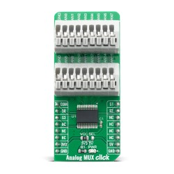 Click Boards Interface Port expander Analog Mux Click Front