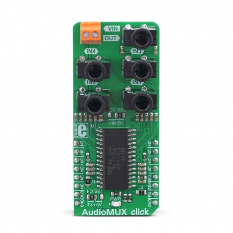 MikroElektronika Click Boards Audio and Voice AudioMUX Click front