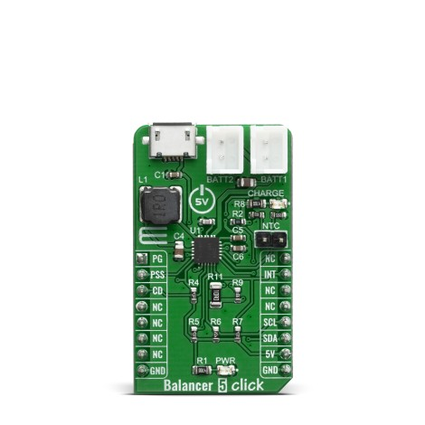 Click Boards Power Management Battery charger Balancer 5 Click Front
