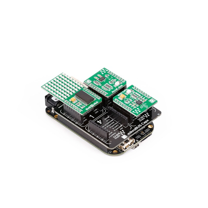 mikroBUS Cape Board | Extension for BeagleBone Black - MikroE