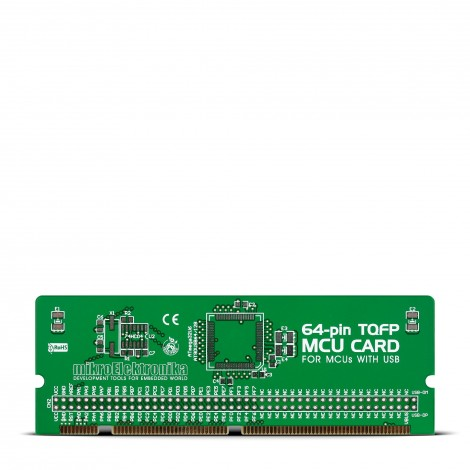 BIGAVR6 64-pin USB TQFP MCU Card Empty PCB
