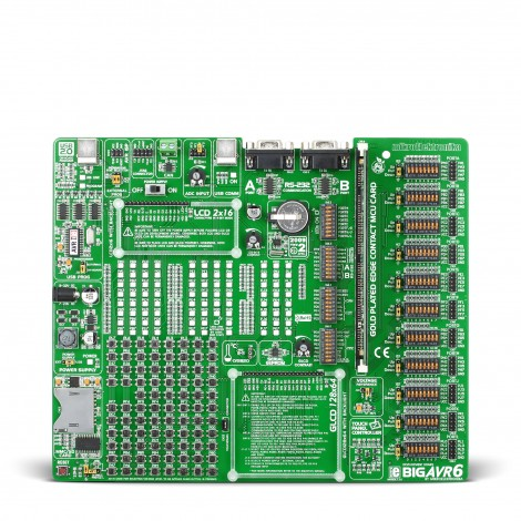 Mikroe Development Boards BIGAVR6 front