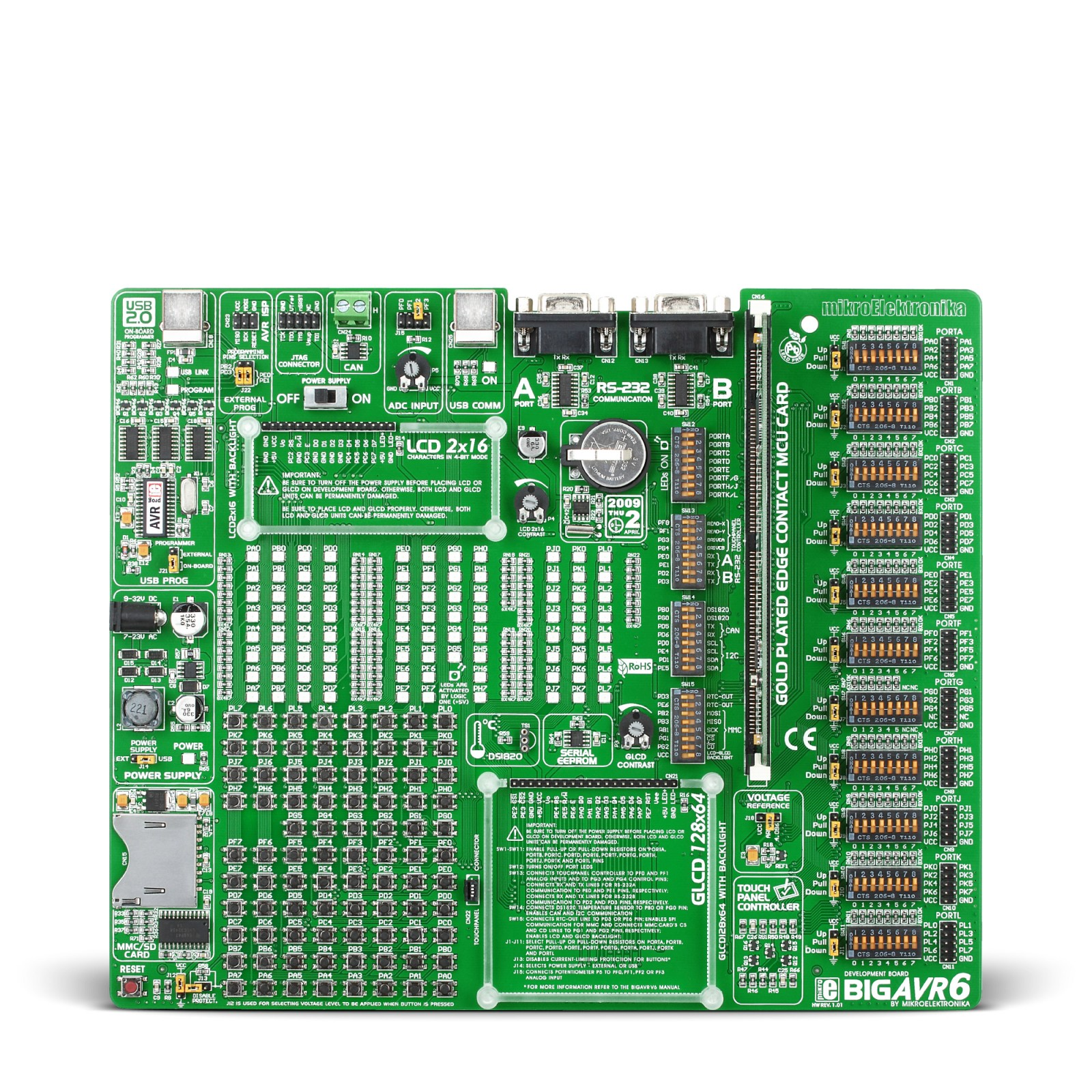 Bigavr6 Development System 64 100 Pin Avr Microcontroller Board Digilent Jtag Cable Schematic Usb Mgctlbxnmzp Mgctlbxv5112 Mgctlbxlc Mgctlbxpprestashop