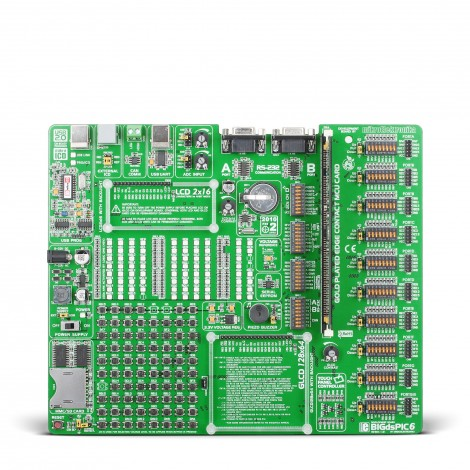 Mikroe Development boards BIGdsPIC6 front
