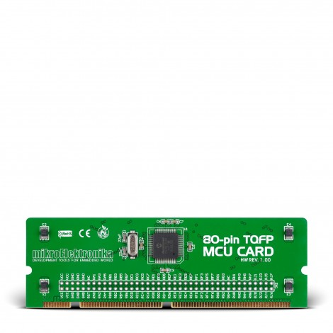 BIGPIC6 80-pin TQFP MCU Card with PIC18F8520 Microcontroller