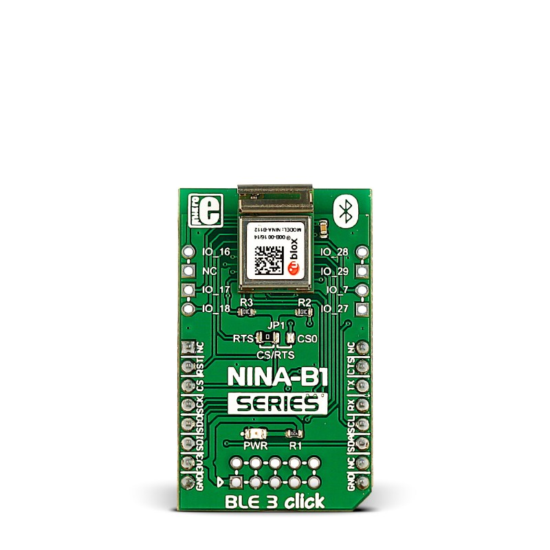 BLE 3 click — board with NINA-B1 Bluetooth 4 2 module