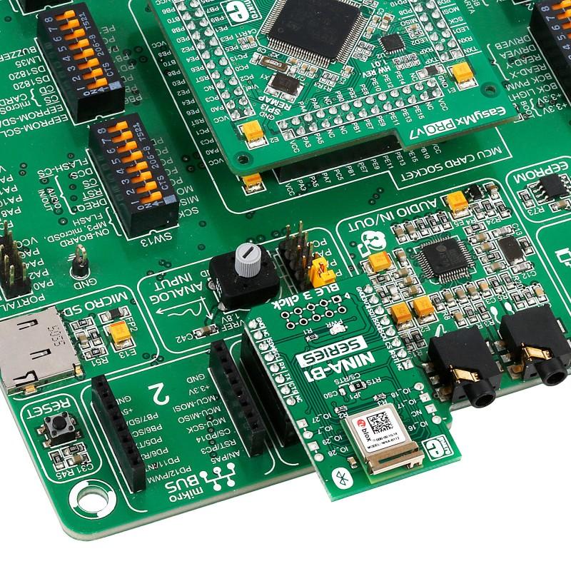 BLE 3 click — board with NINA-B1 Bluetooth 4 2 module