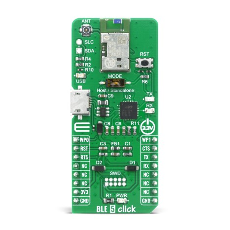 Shop Click Boards Wireless Connectivity BT/BLE BLE 5 Click Front