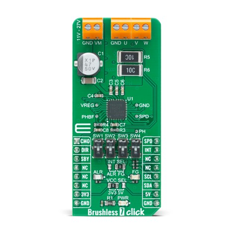 Shop Click Boards Motor Control Brushless Brushless 7 Click Front