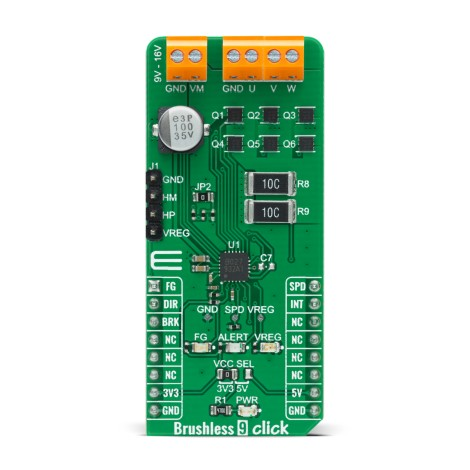 Shop Click Boards Motor Control Brushed Brushless 9 Click Front