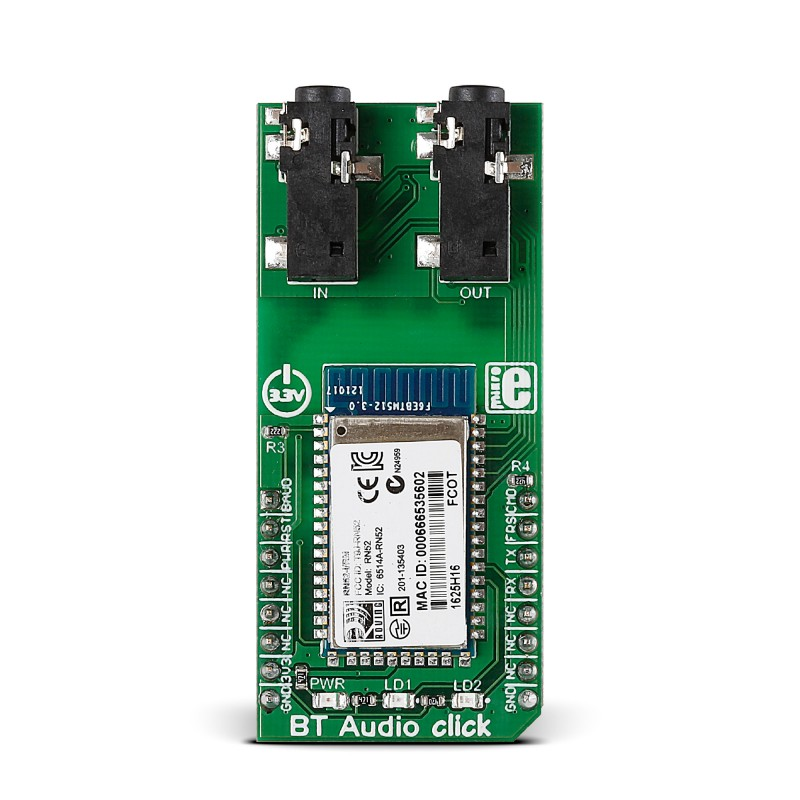 BT Audio Click — Board With Microchip's RN52 Bluetooth Audio Module