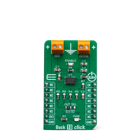 Click Boards Power Management Buck 10 click Front