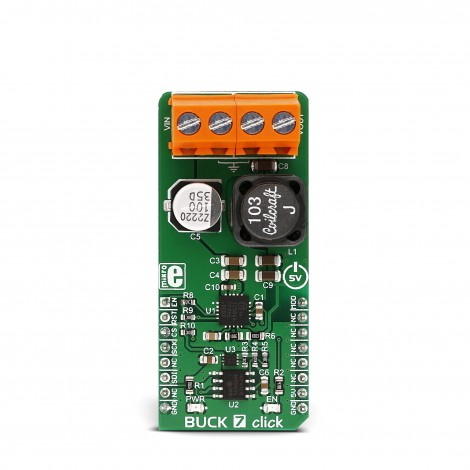 Mikroe Power Management BUCK 7 click front