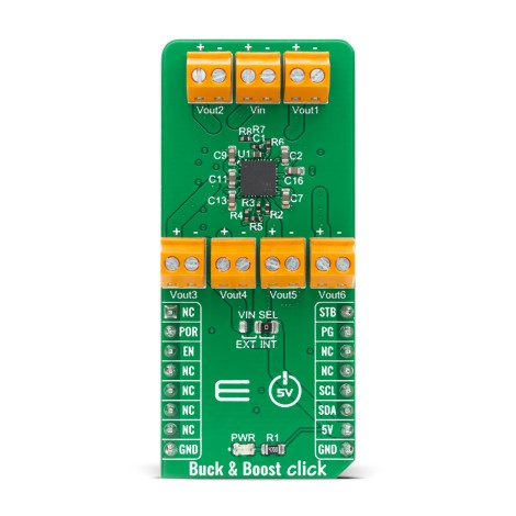 Shop Click Boards Power Management Buck-Boost Buck & Boost Click Front