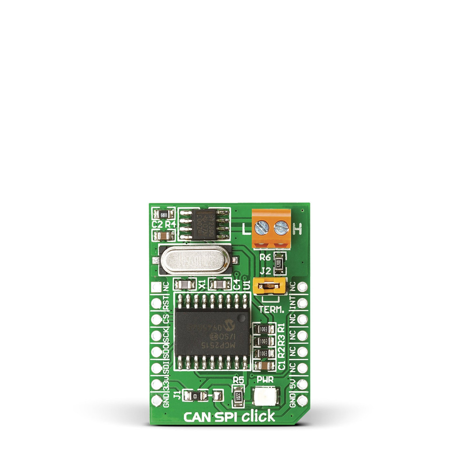 CAN SPI click 3 3v - Breakout board for SN65HVD230 CAN transciever