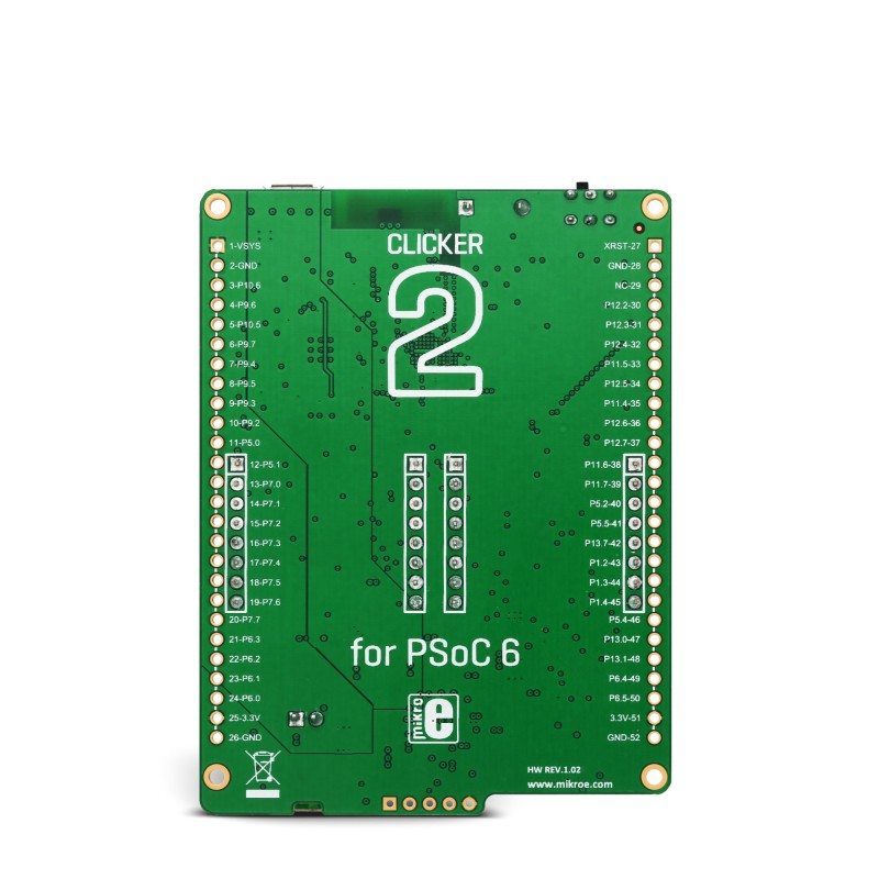 Mikroe Clicker 2 for PSoC 6 back