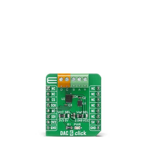 Shop Click Boards Mixed Signal DAC DAC 6 Click Front