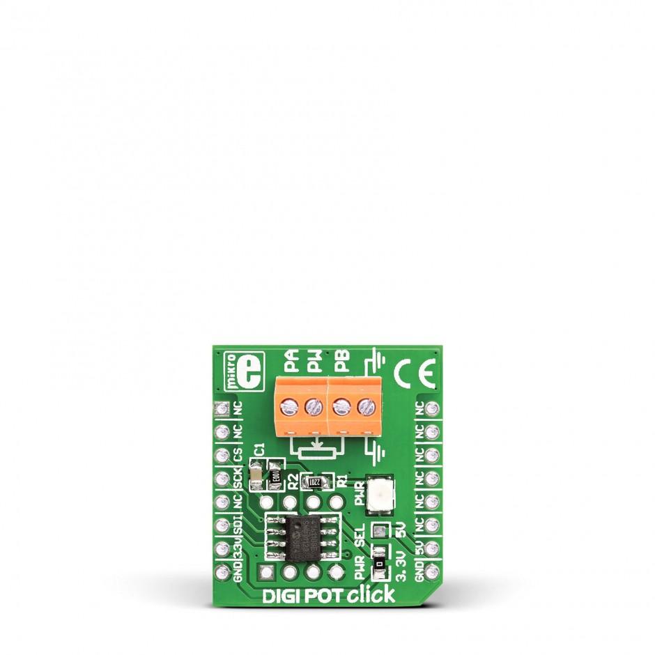 Digipot Click Breakout Board For Mcp4161 Dig Potentiometer 8 Bit Ac Wiring Digi Pot