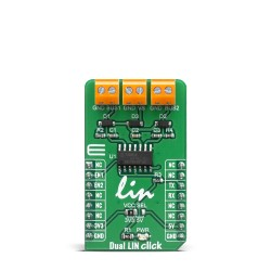 Click Boards Interface LIN Dual LIN click Front