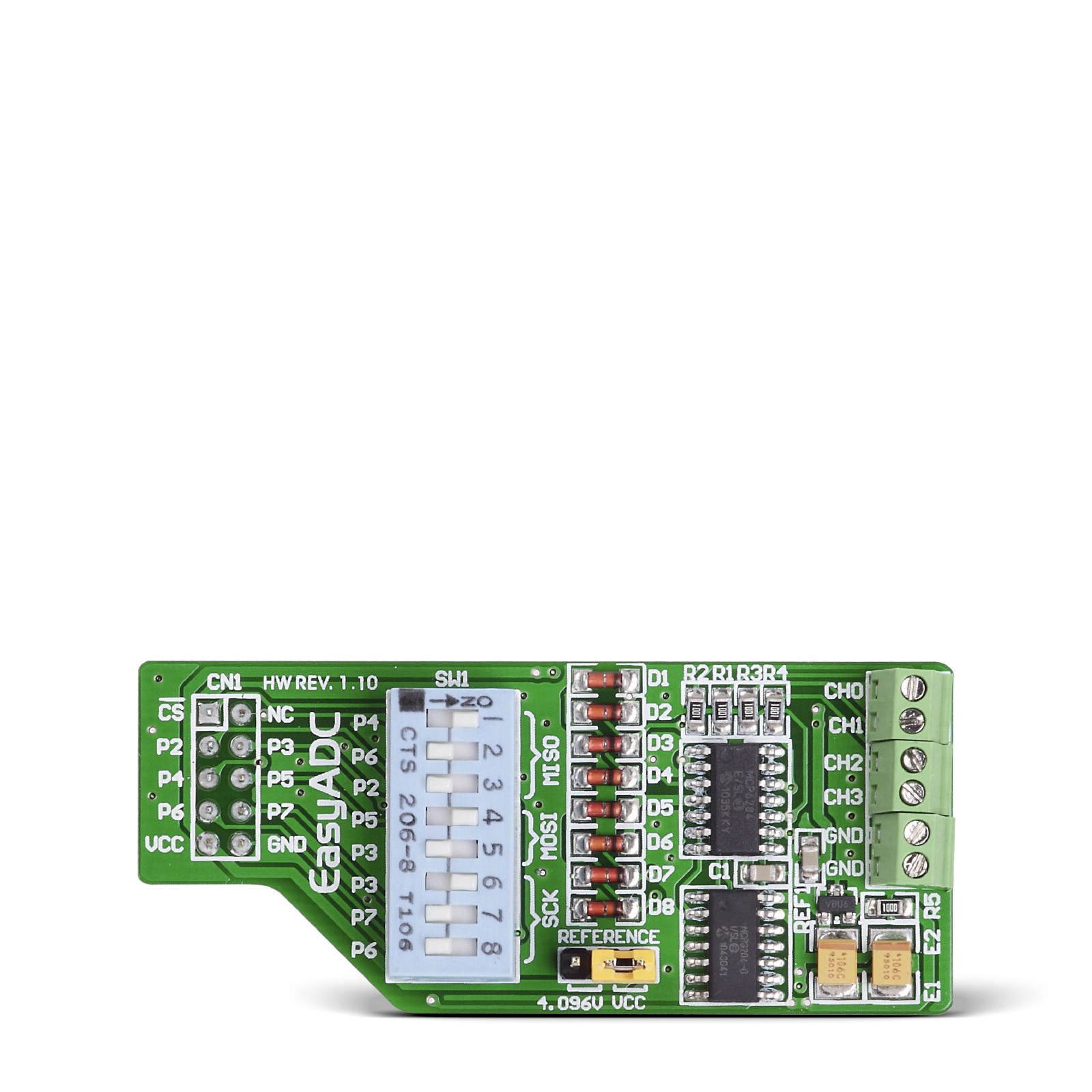 Easyadc Board With Mcp3204 4 Ch 12 Bit Analog To Digital Converter Using Pic16f877a Microcontroller Mgctlbxnmzp Mgctlbxv5112 Mgctlbxlc Mgctlbxpprestashop