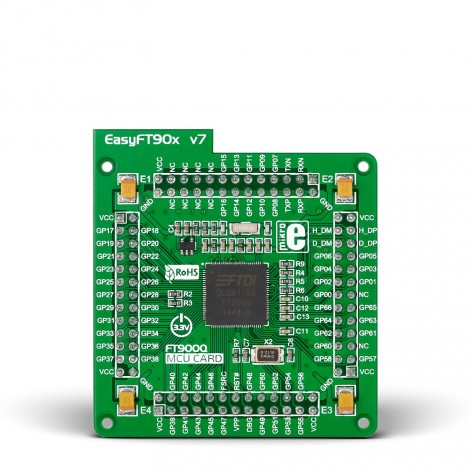 MikroE EasyFT90x v7 MCU card with FT900 QFN-100