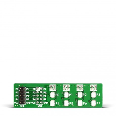 Mikroe EasyLED Board with red diodes