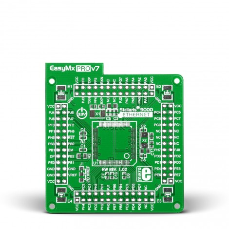 Ethernet empty MCU card for 100-pin TQFP Stellaris 9000 series