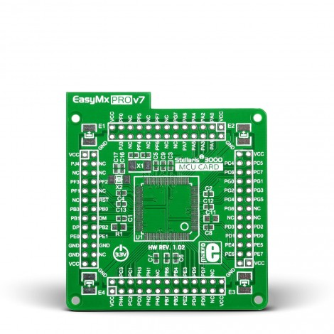 MikroE Standard empty MCU card for 100-pin TQFP Stellaris 3000 series