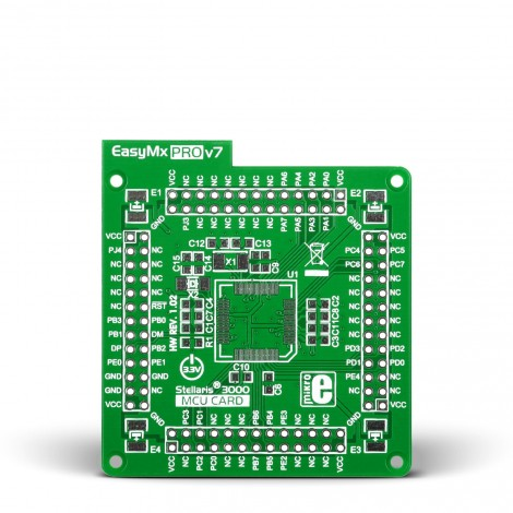 MikroE Standard empty MCU card for 64-pin TQFP Stellaris 3000 series