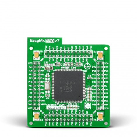 Standard MCU card with LX4F232H5QD (144-pin TQFP)