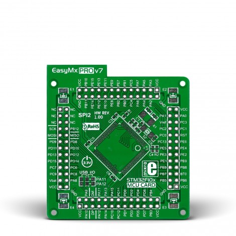 EasyMx PRO v7 for STM32 Empty MCUcard 100pin TQFP
