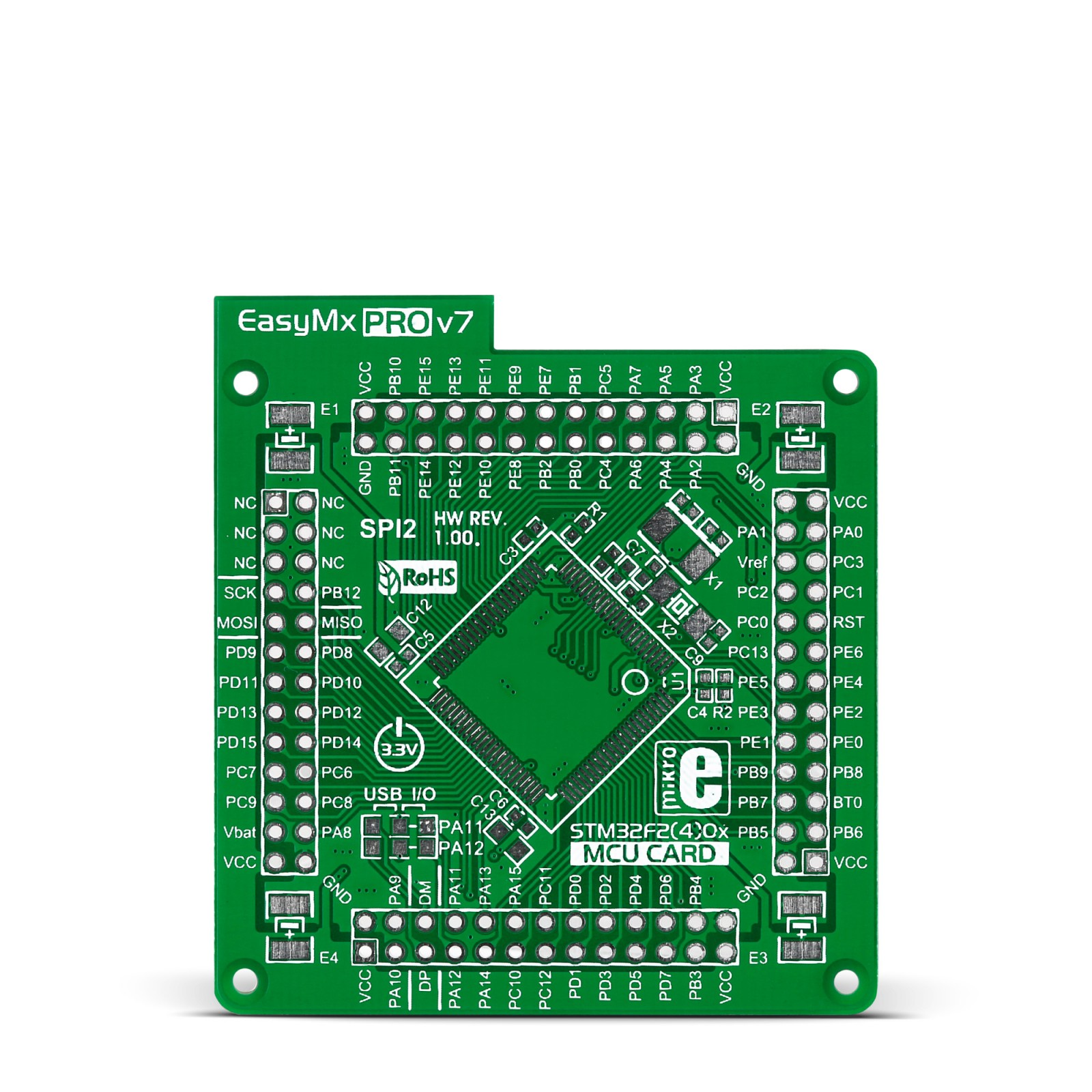 EasyMx PRO v7 for STM32 Empty MCUcard HP ETH 100pin TQFP