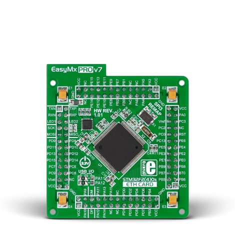 EasyMx PRO v7 for STM32 MCUcard with STM32F407VGT6