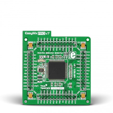 EasyMx PRO v7 for Tiva MCU card with TM4C123GH6PZL