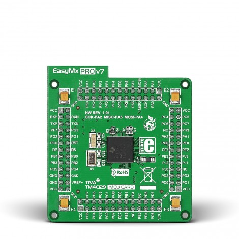 Mikroe EasyMx PRO v7 for Tiva MCU card with TM4C129XNCZAD