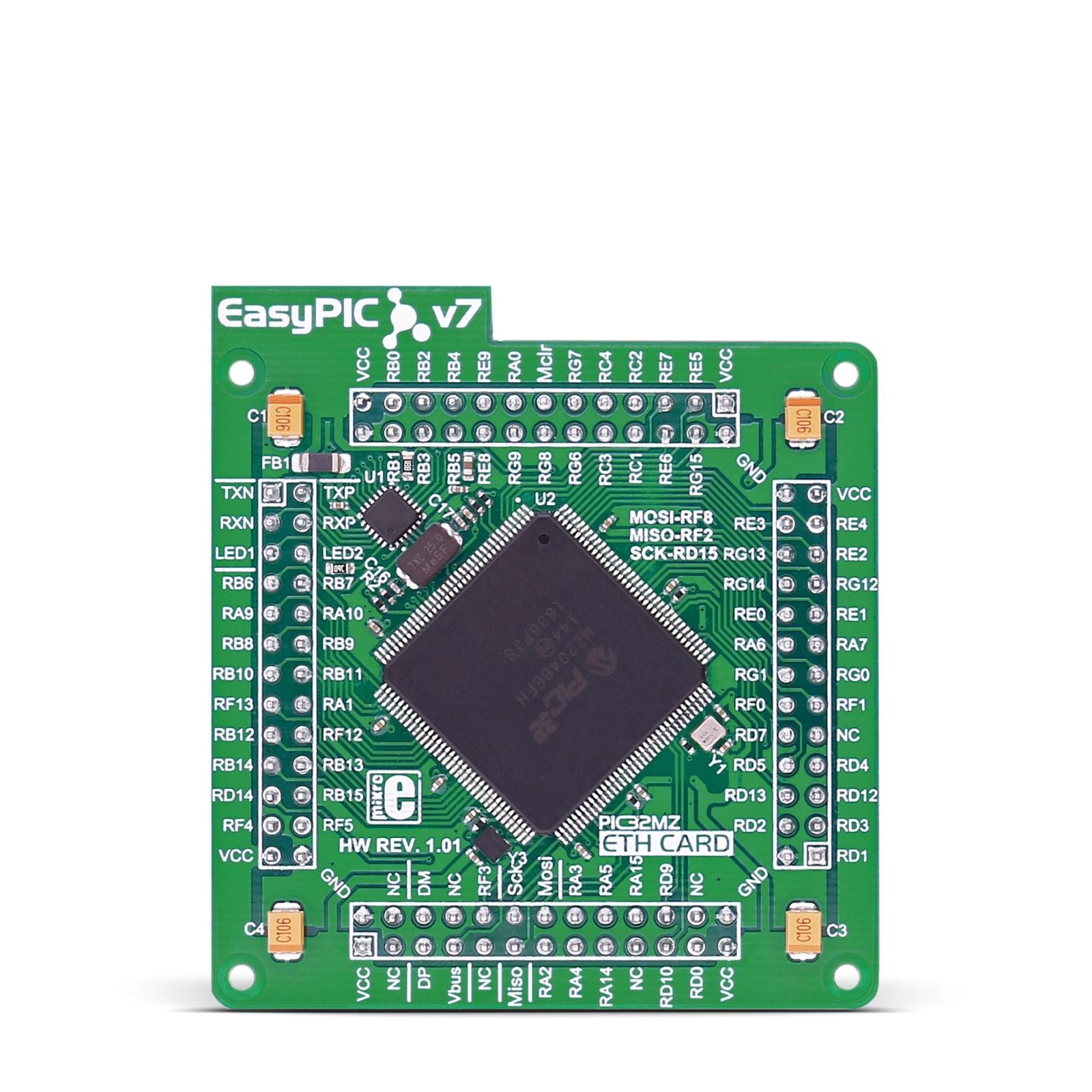 EasyPIC FUSION v7 ETH MCUcard | MikroElektronika