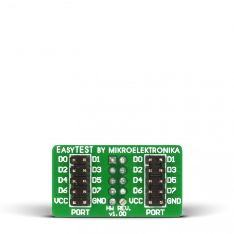Mikroe Adapter EasyTEST Board front